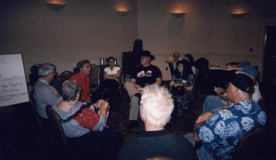 Bob Feldman leading a workshop photo